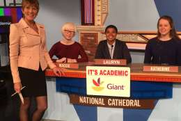 "On ""It's Academic,"" National Cathedral competes against Osbourn and Oxon Hill high schools. The show airs Jan. 7. (Courtesy Facebook/It's Academic)"