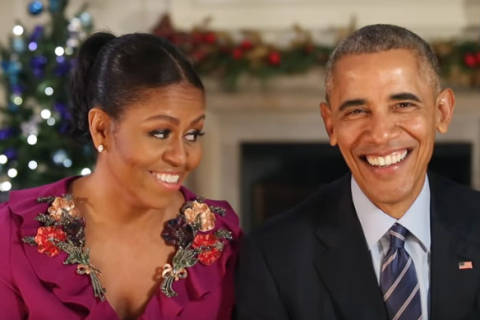 President Obama, first lady Michelle Obama wish America merry Christmas