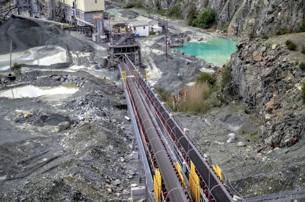 The company that owns Travilah Quarry is open to the possibility of it someday being used as a water reservoir. (Courtesy Aggregate Industries)