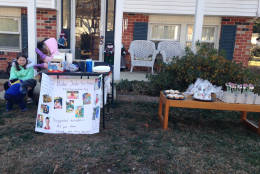 Caroline Hammer (K) and Amanda Hammer (3rd) organized a bake sale to raise money for an orphan with special needs through an organization called Reece's Rainbow.  They raised $101.79!! (Courtesy Sharon Ferralli)