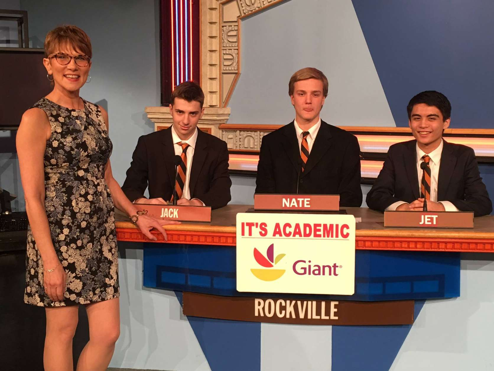 "On ""It's Academic,"" Rockville High School competed against Langley and La Plata. The show aired May 27, 2017. (Courtesy Facebook/It's Academic)"