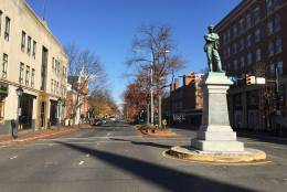 "Local members of Virginia's General Assembly declined to propose a state waiver to allow the ""Appomattox"" statue to be moved. ""I am disappointed  that they would not seek permission, or at least keep the conversation going,"" said Alexandria City Councilman Willie Bailey. ""In order to make change you have to start the conversation."" (WTOP/Kristi King)"