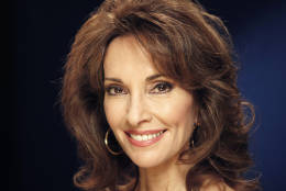 """FILE - In this March 28, 2011 file photo, actress Susan Lucci from """"All My Children,"""" poses for a portrait in New York.  Lucci is the author of a new memoir titled """"All My Life.""""  (AP Photo/Jeff Christensen, file)"""