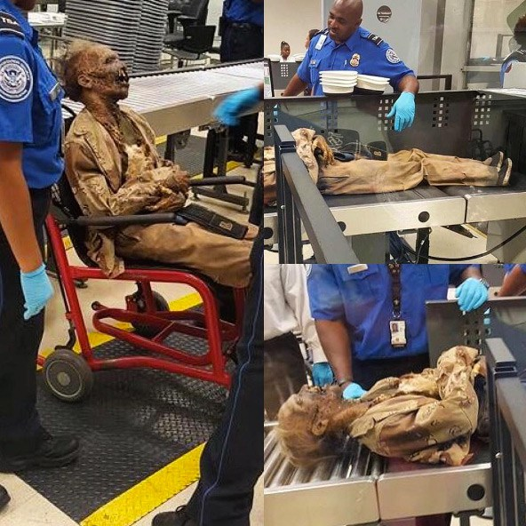 Movie prop corpse — Hartsfield — Jackson Atlanta International Airport (ATL)