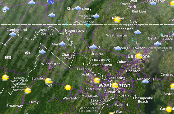Radar Current Conditions Current Temperatures Severe Weather Map