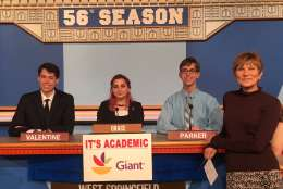 "On ""It's Academic,"" West Springfield High School competed against Chantilly and Suitland high schools. The show aired Jan. 21, 2017. (Courtesy Facebook/It's Academic)"