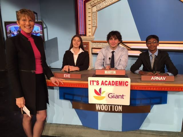 "On ""It's Academic,"" Wootton High School competes against J.E.B. Stuart and Edison high schools. The show airs Feb. 4, 2017. (Courtesy Facebook/It's Academic)"