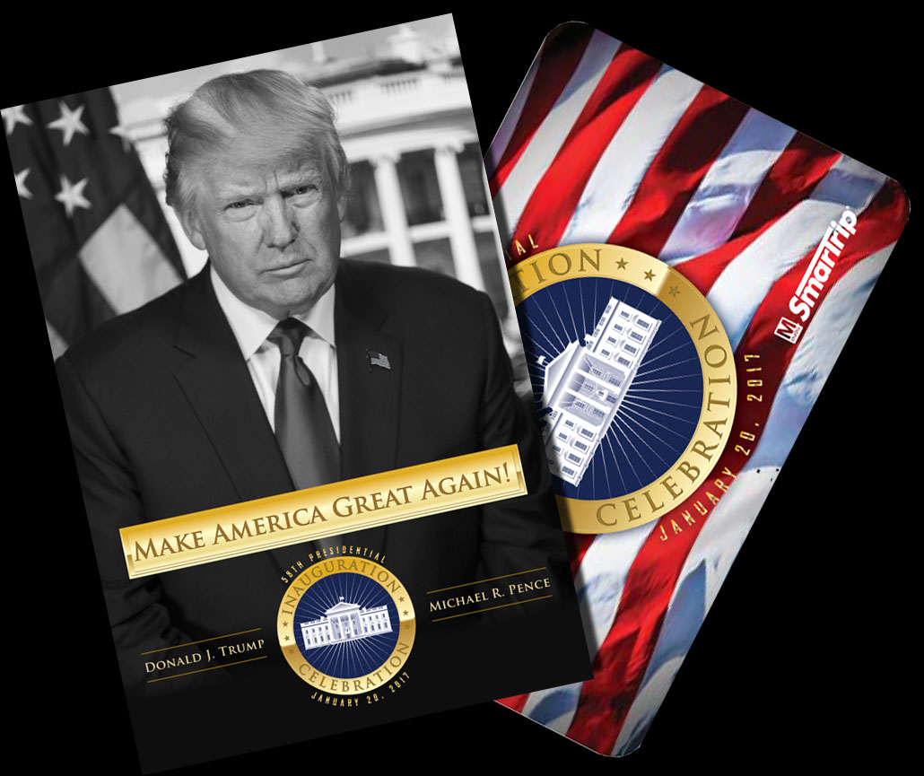 "Metro said the image of Trump used on the sleeve was provided by the Presidential Inaugural Committee, which ""worked closely"" with the transit agency on the commemorative sleeve, the committee's communications director, Boris Epshteyn, said in a statement. (WMATA)"