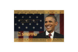 The commemorative SmarTrip card for President Obama's second inauguration in 2013. (WMATA)