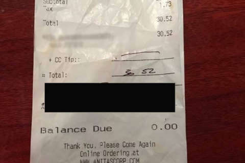 Lawyer: Racist note on Loudoun Co. restaurant bill is fake