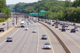 Traffic flow on Interstate 270 between Montrose Road the lane divide in this WTOP file photo. (WTOP/Dave Dildine)