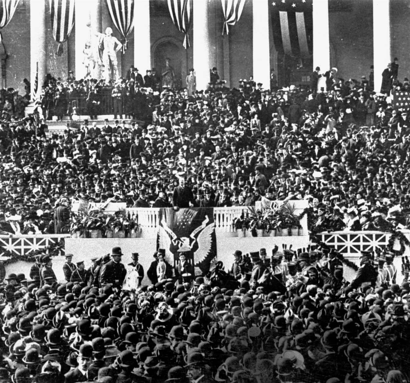 The inauguration of President Theodore Roosevelt, 1905.  (AP Photo)