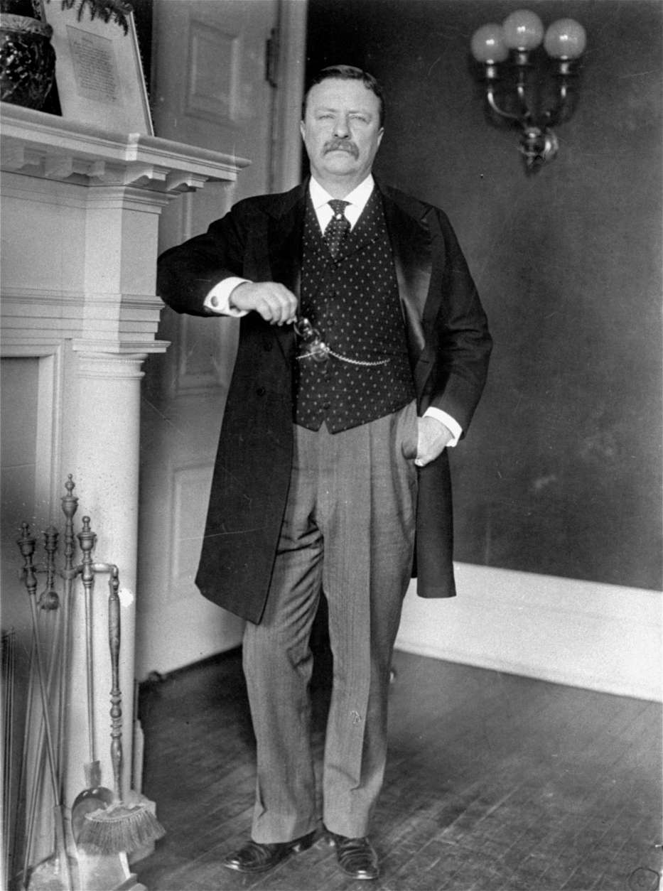 ** FILE ** In this 1908 file photo, President Theodore Roosevelt stands in the White House.      (AP Photo)