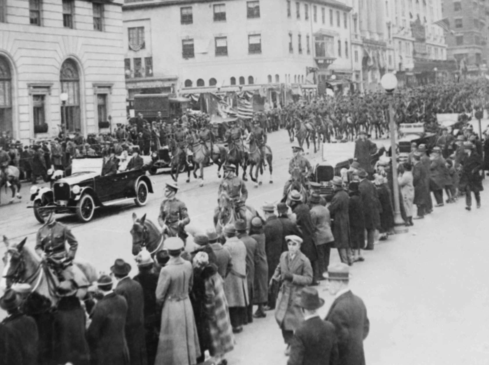 This photo shows the inauguration parade for Pres. Calvin Coolidge, March 4, 1925, Washington, D.C. (AP Photo)