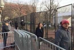 Access to Lafayette Square is limited Thursday. (WTOP/Kristi King)