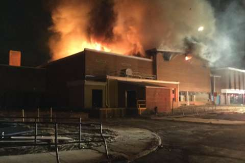 Fire strikes former middle school gym in Montgomery Co.