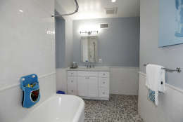 An en suite bathroom in the Obamas' new house, in the Kalorama area of Northwest D.C. (Courtesy McFadden Group)