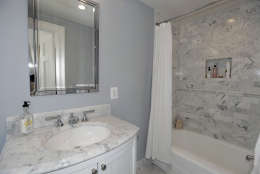 The en suite bathroom of the Obamas' new house, in the Kalorama area of Northwest D.C. (Courtesy McFadden Group)