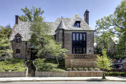 Here's a view of the front of the Obamas' new house, in the Kalorama area of Northwest D.C. (Courtesy McFadden Group)