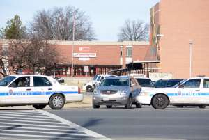 Police outside Suitland High school