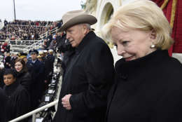 WASHINGTON, DC - JANUARY 20: Former US Vice President Dick Cheney and his wife Lynne arrive for the Presidential Inauguration of Donald Trump at the US Capitol on January 20, 2017 in Washington, DC. Donald J. Trump will become the 45th president of the United States today.  (Photo by Saul Loeb - Pool/Getty Images)