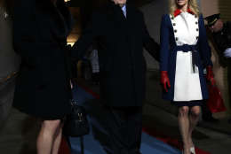 WASHINGTON, DC - JANUARY 20:  (L-R) Donald Trump's White House Director of Strategic Communications Hope Hicks, Senior Counselor Steve Bannon and Counselor to the President Kellyanne Conway arrive for the presidential inauguration on the West Front of the U.S. Capitol on January 20, 2017 in Washington, DC. In today's inauguration ceremony Donald J. Trump becomes the 45th president of the United States.  (Photo by Win McNamee/Getty Images)