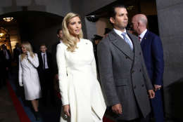 WASHINGTON, DC - JANUARY 20:  (L-R) Ivanka Trump and Donald Trump, Jr. arrive on the West Front of the U.S. Capitol on January 20, 2017 in Washington, DC. In today's inauguration ceremony Donald J. Trump becomes the 45th president of the United States.  (Photo by Win McNamee/Getty Images)