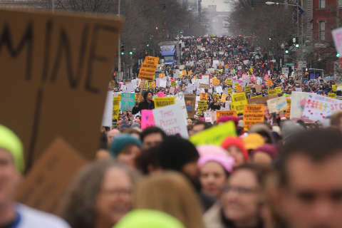 Women's March on Washington rerouted due to large crowd