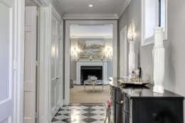 A view of the hallway and living room of the Obamas' new house, in the Kalorama area of Northwest D.C. (Courtesy McFadden Group)