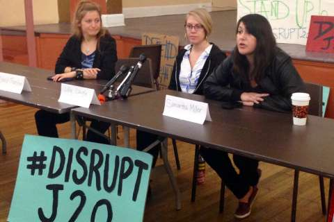 Inaugural protest group Disrupt J20 unveils plans