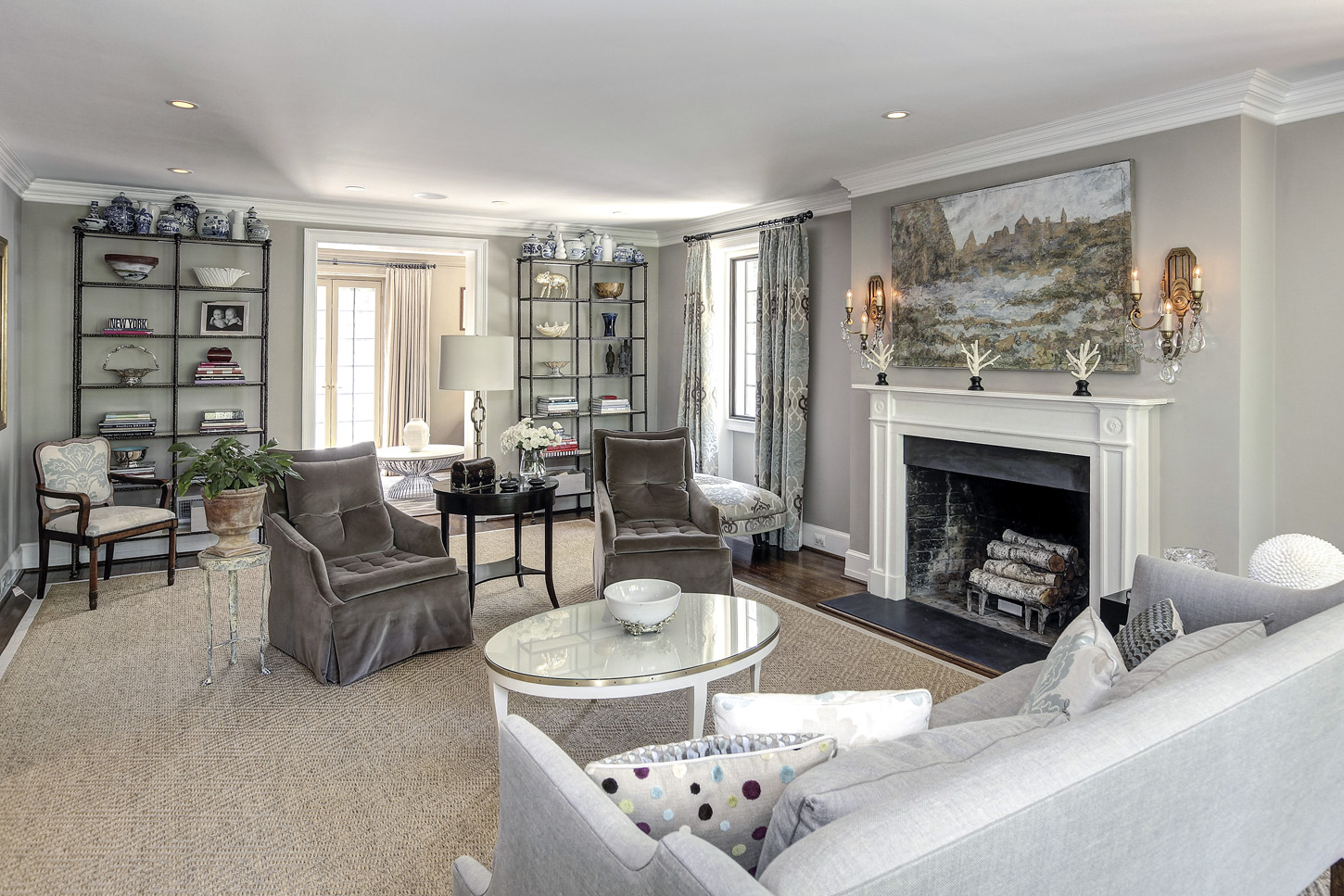 A view from the living room into the sitting room of the Obamas' new house, in the Kalorama area of Northwest D.C. (Courtesy McFadden Group)
