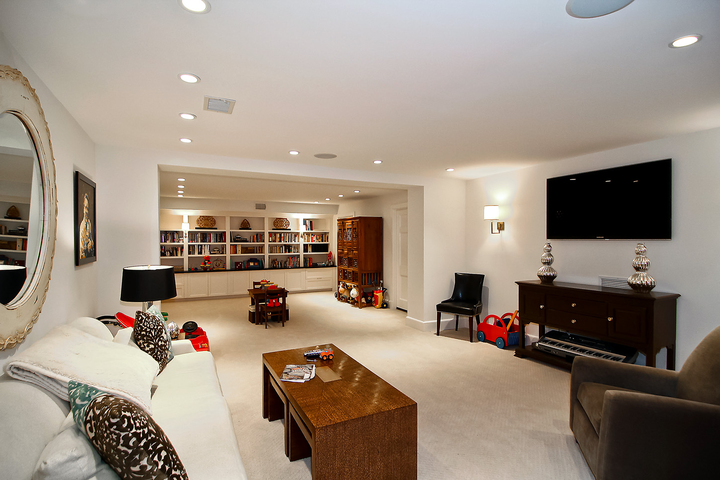 Another view of the media/family room in the Obamas' new house, in the Kalorama area of Northwest D.C. (Courtesy McFadden Group)