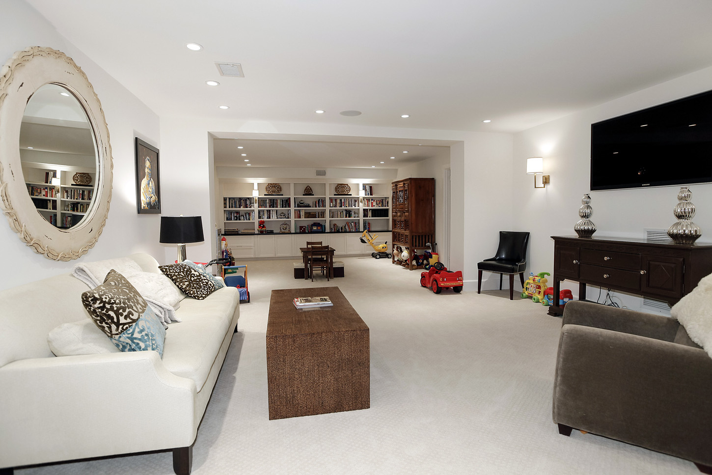 A media/family room in the Obamas' new house, in the Kalorama area of Northwest D.C. (Courtesy McFadden Group)