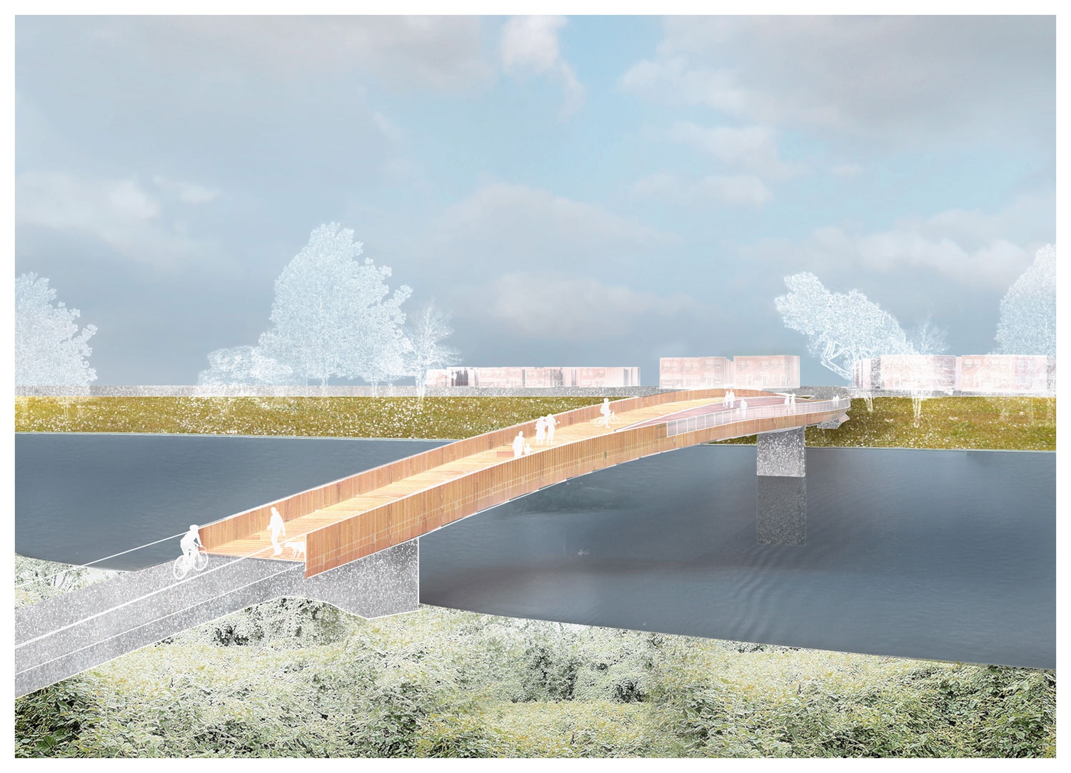 The proposed bridge from River Terrace to Kingman Island. (Courtesy: OMA/Events DC)