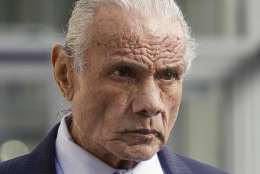 """FILE - In this Nov. 2, 2015, file photo, former professional wrestler Jimmy """"Superfly"""" Snuka leaves Lehigh County Courthouse in Allentown, Pa. A lawyer representing Snuka said family members told him that Snuka died Sunday, Jan. 15, 2017, at his son-in-law's home near Pompano Beach in Florida. Snuka, who was inducted into the WWE Hall of Fame in 1996, was 73. (Michael Kubel/The Morning Call via AP, File)"""