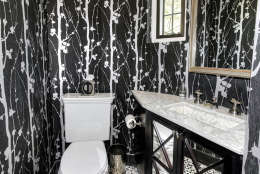 The powder room of the Obamas' new house, in the Kalorama area of Northwest D.C. (Courtesy McFadden Group)