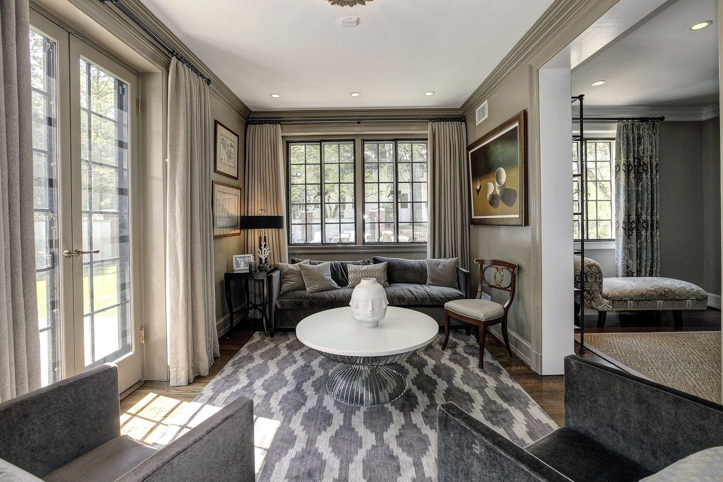 The sitting room of the Obamas' new house, in the Kalorama area of Northwest D.C. (Courtesy McFadden Group)
