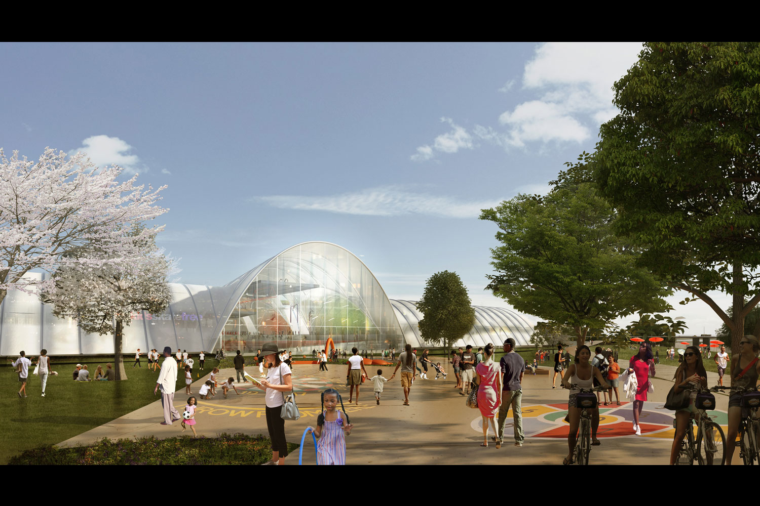 A rendering of the sports and recreation complex from the outside. (Courtesy: OMA/Events DC)