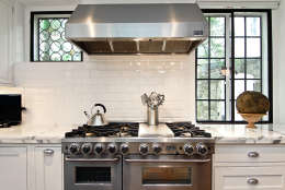 A view of the stove of the Obamas' new house, in the Kalorama area of Northwest D.C. (Courtesy McFadden Group)