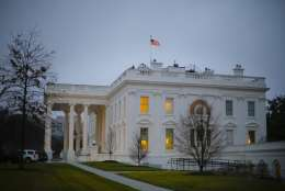 The White House in Washington as seen on Monday morning, Jan. 23, 2017. President Donald Trump is set to meet with congressional leaders from both parties to discuss his agenda, as he enters his first official week in the White House and works to begin delivering on his ambitious campaign promises. Trump has said that he considers Monday, to be his first real day in office. (AP Photo/Pablo Martinez Monsivais)