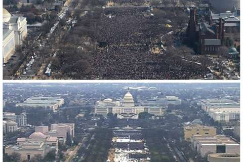 How did Trump's inauguration crowd compare? (Photos)