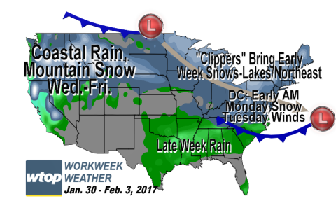 Workweek weather: Chills, some sun bring January to close