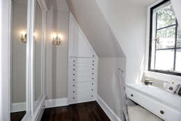 A walk-in closet in the Obamas' new house, in the Kalorama area of Northwest D.C. (Courtesy McFadden Group)