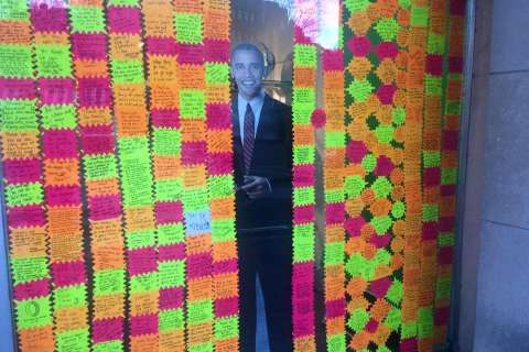 Customers leave love for POTUS in Cleveland Park shop