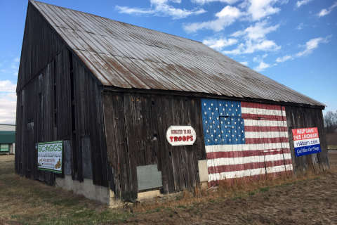 Calvert community rallies to save 'flag' barn