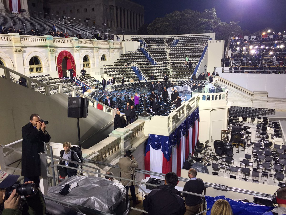It won't be long now until the next president is sworn in here on the west front of the U.S. Capitol. Follow WTOP's Dave McConnell's coverage of the inauguration on Twitter @McConnellWTOP . (WTOP/Brennan Haselton)