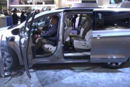 """""""Consumers show a high level of interest in self-enabling vehicles or cars that can learn, heal, drive and socialize,"""" reads a study released last year by the IBM Institute for Business Value. (WTOP/Kenny Fried)"""