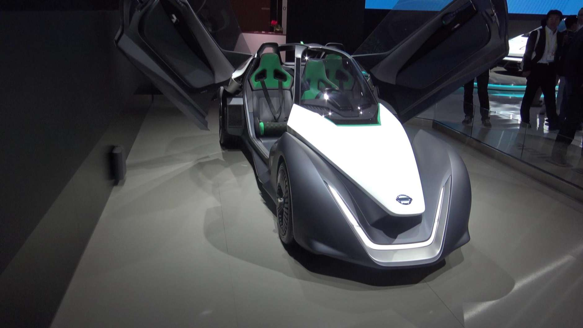 """This week at CES, as nearly a dozen manufacturers showcased distinct innovations within their own product lines, two fundamental trends seemed to emerge – the concept of vehicles capable of learning from drivers' emotions to affect behavioral change and the creation of an urban transportation model that can perhaps be best described as """"Autonomous Uber. (WTOP/Kenny Fried)"""
