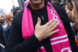 Sen. Corey Booker (D-New Jersey) attends the Women's March on Washington on Jan. 21, 2017. (Courtesy Shannon Finney)