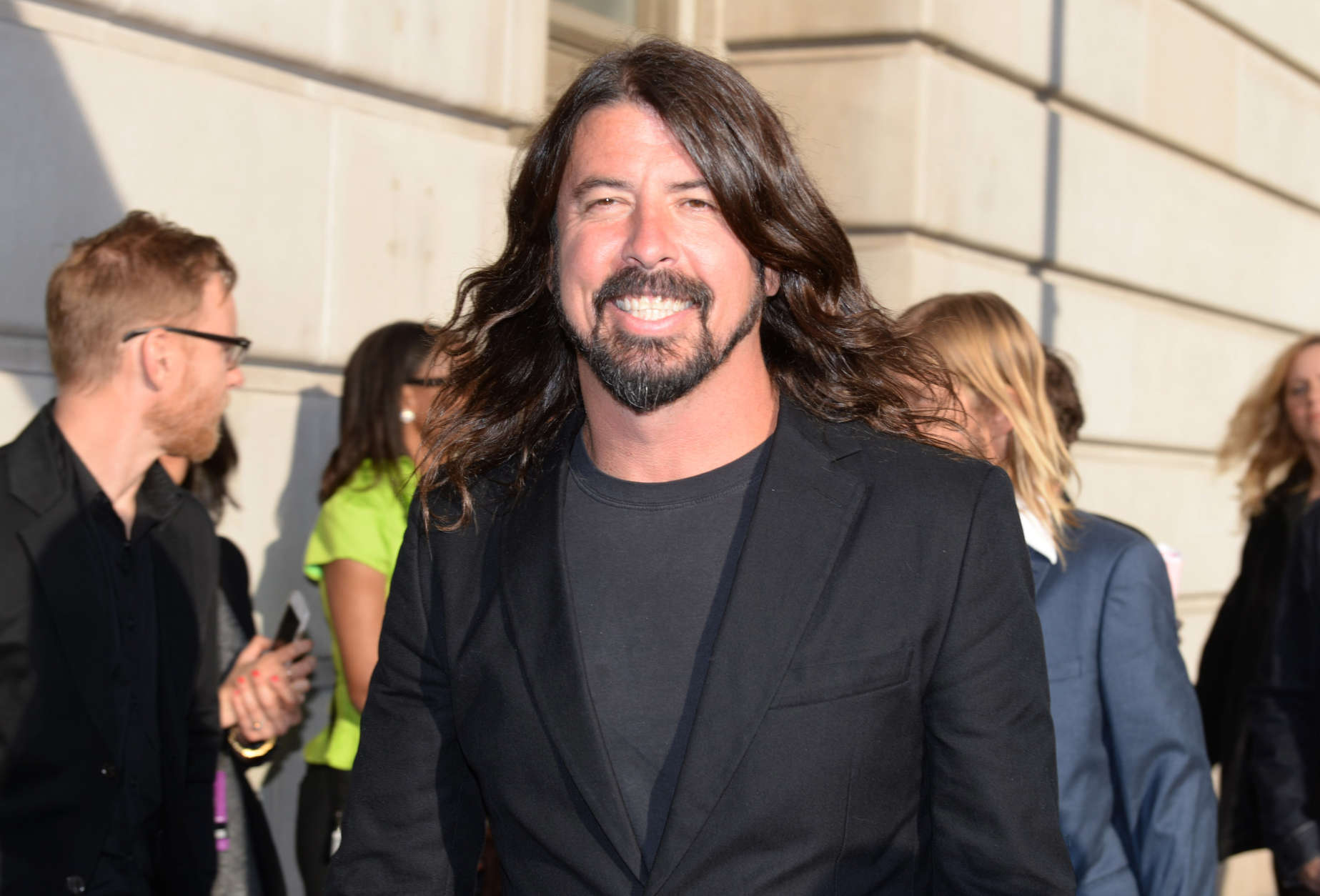 Dave Grohl arrives at the 2015 Rock and Roll Hall of Fame Induction Ceremony at Public Hall on Saturday, April 18, 2015, in Cleveland, Ohio. (Photo by Jason Miller/Invision/AP)